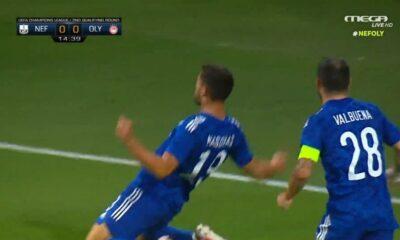 Νέφτσι Μπακού – Ολυμπιακός 0-1: Οι φάσεις και το γκολ! (video)