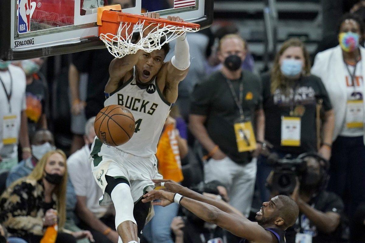 NBA Finals, Σανς – Μπακς 119-123: Γράφουν ιστορία Μιλγουόκι και Γιάννης Αντετοκούνμπο, έκαναν το μπρέικ (3-2) – videos