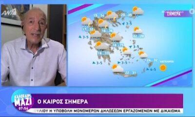 Η πρόγνωση του καιρού από τον Τάσο Αρνιακό | Τρίτη 20/07/2021 (video) 6
