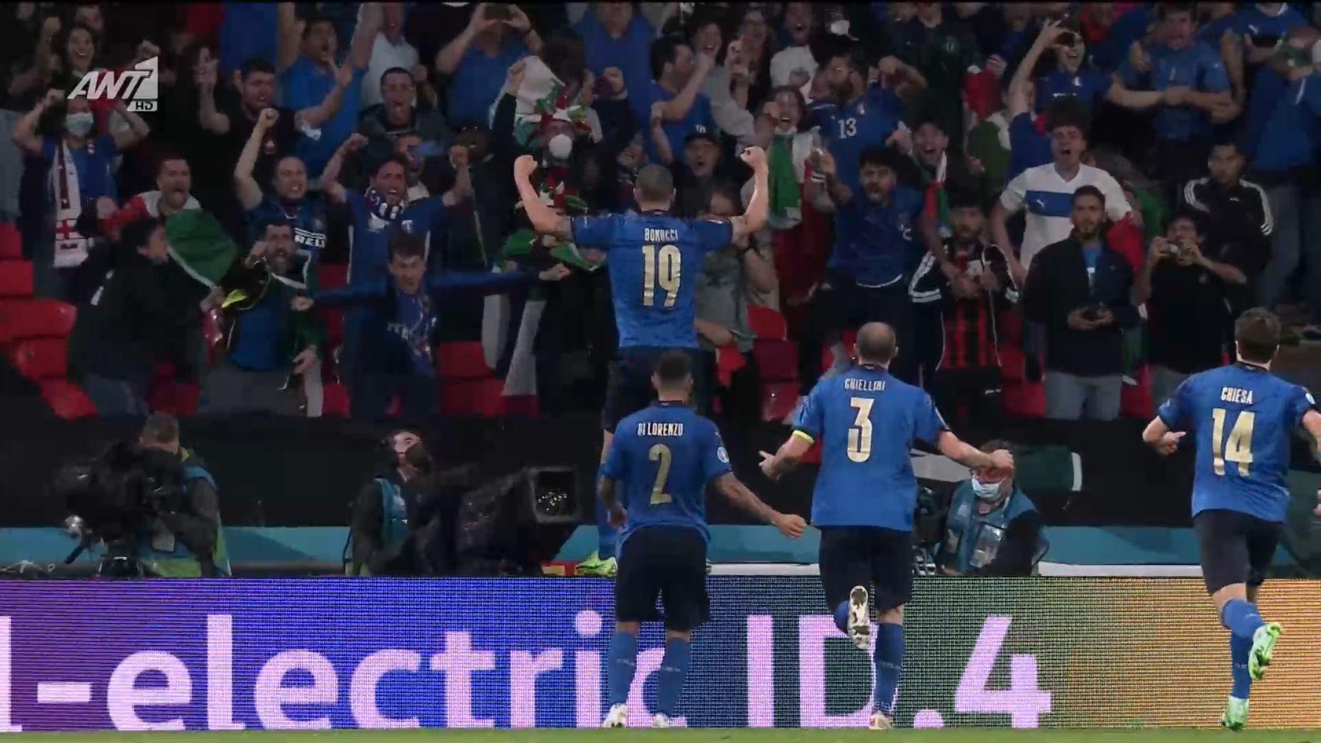 Ιταλία – Αγγλία 1-1 (3-2 πεν.) : Γκολ, hightlights και η διαδικασία των πέναλτι (video)