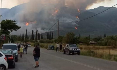 Μεσσηνία – Η φωτιά πλησιάζει προς το χωριό Καρνάσι – Δραματικές στιγμές 20