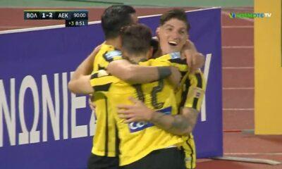 Βόλος – ΑΕΚ 1-3: Τα γκολ του αγώνα (video)